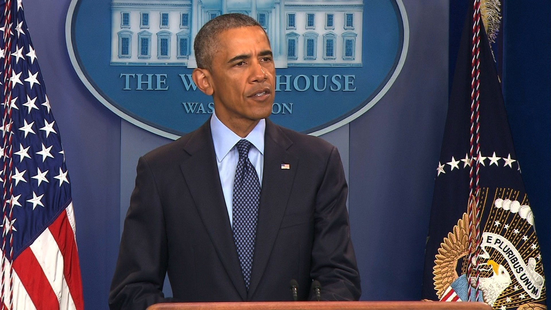 Caption: President Obama addressed the nation on Sunday, June 12, 2016 about the worst terror attack in U.S. history since 9/11. 50 people were killed inside the Pulse club in Orlando, Florida and at least 53 people were injured, police say.